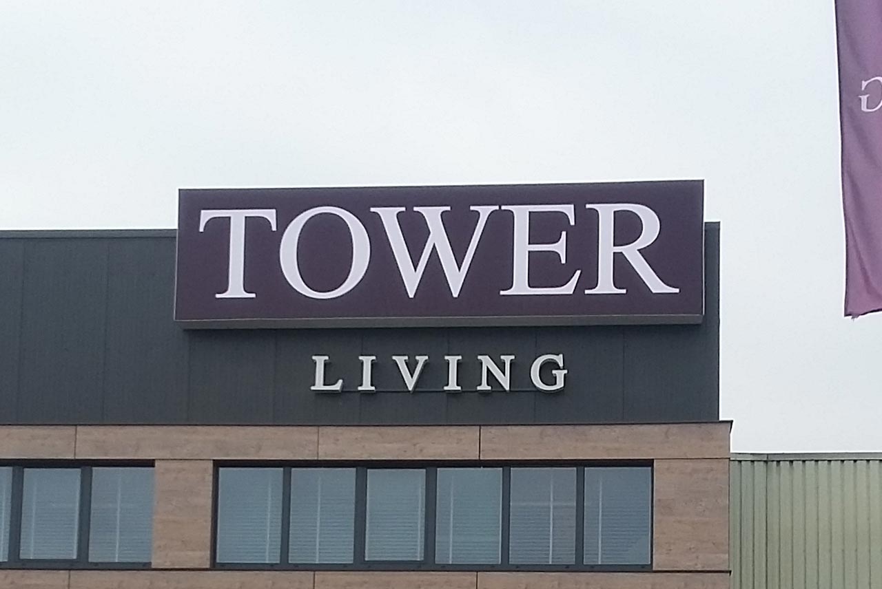 lichtreclame tower living