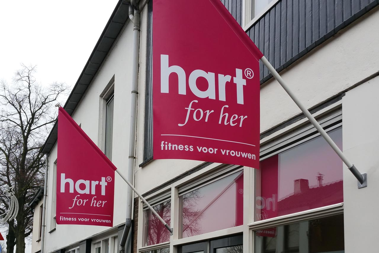 vlaggen hart for her